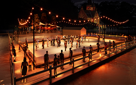 Artificial Skating Rink and Winter Bar