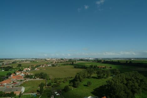 Panoramic polder view from the tower