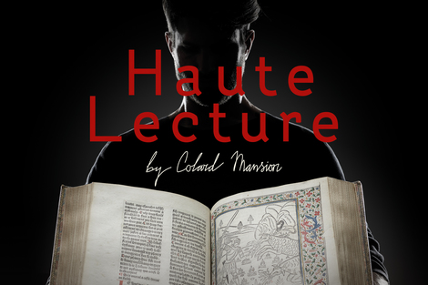 Haute Lecture by Colard Mansion. Innovating text and image in medieval Bruges